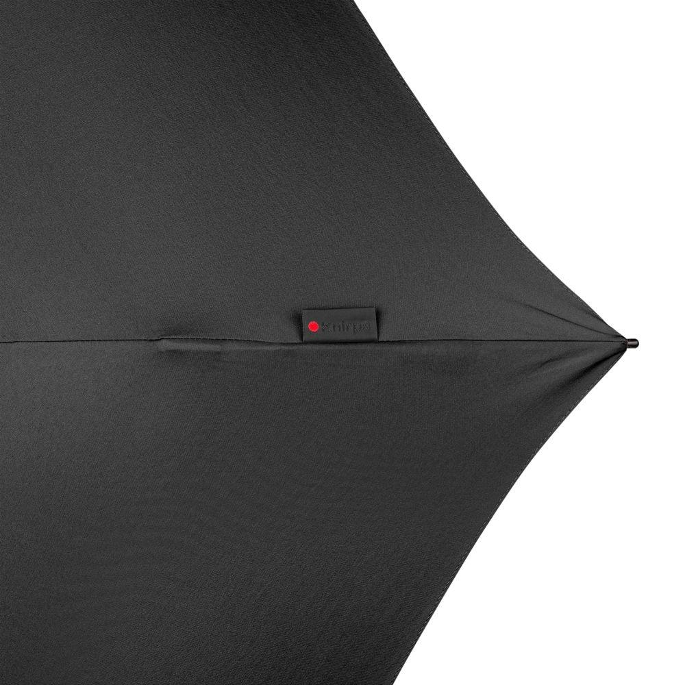 Зонт складной TS220 с безопасным механизмом, черный - 8