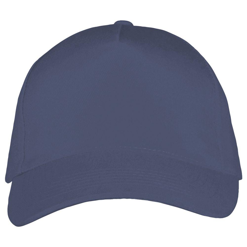 Бейсболка LONG BEACH, синяя (джинс) - 1