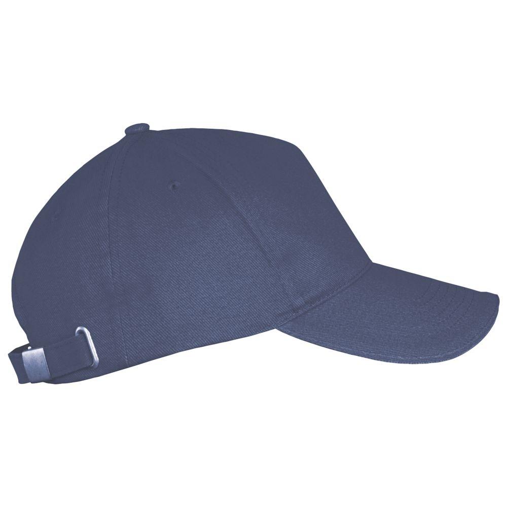 Бейсболка LONG BEACH, синяя (джинс) - 3