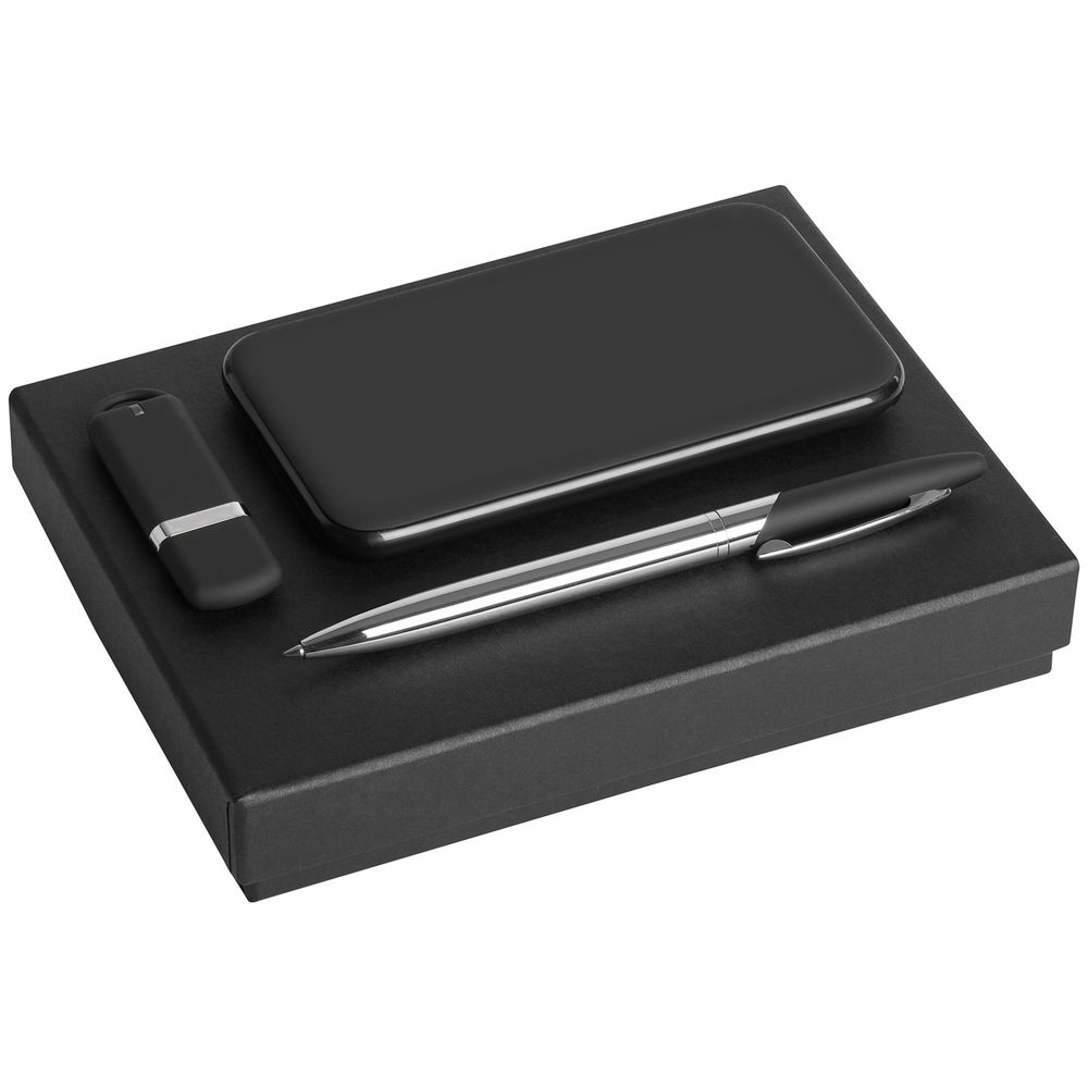 Коробка Slender, большая, черная, 17х13х2,9 см, переплетный картон - 3