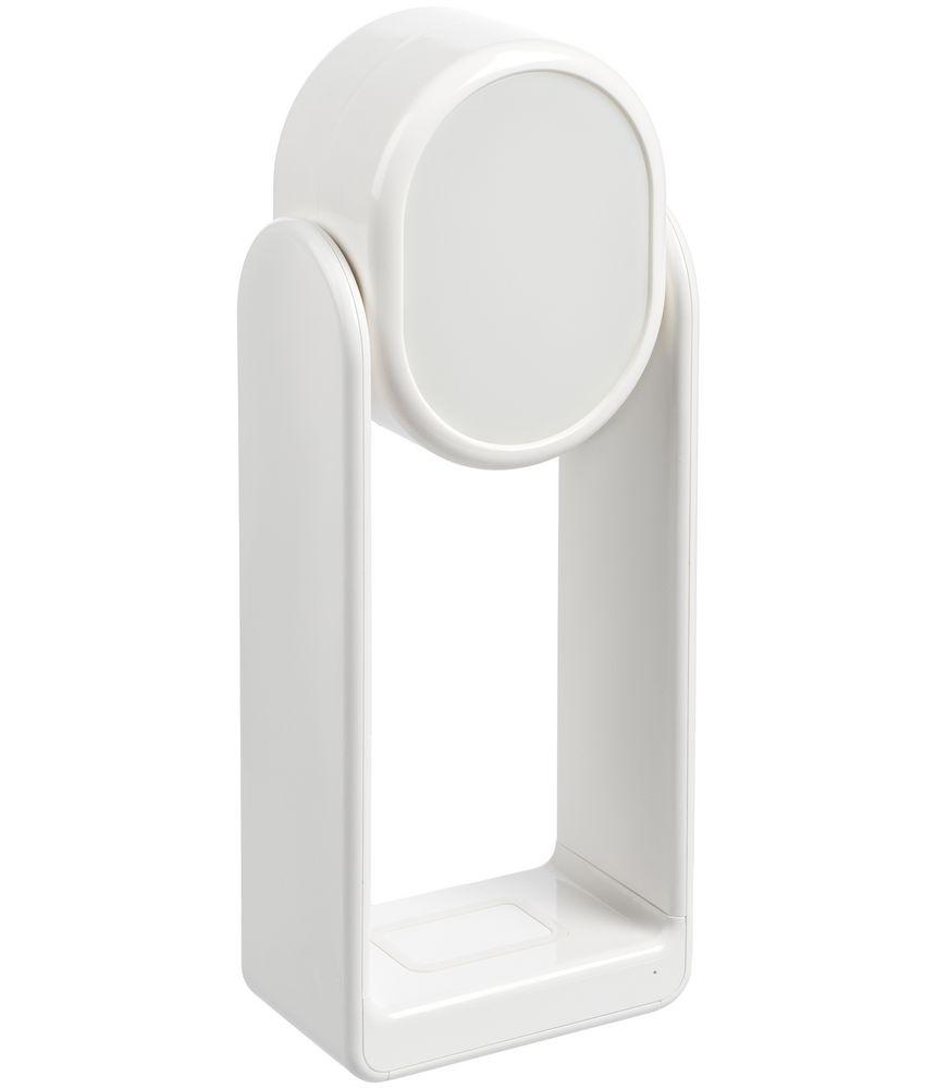 Настольная лампа с зеркалом и беспроводной зарядкой Tyro, белая - 1