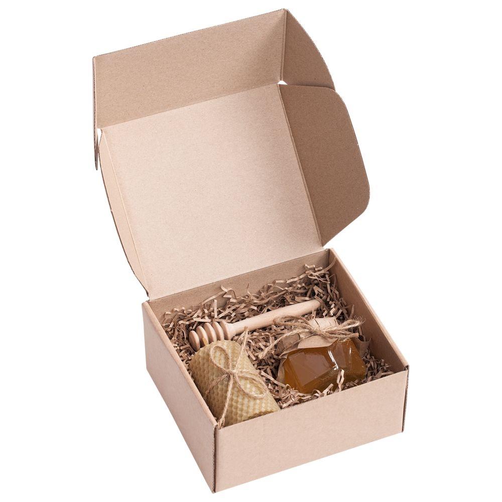 Коробка Piccolo, крафт, самосборная, 16х15х8 см, микрогофрокартон - 3