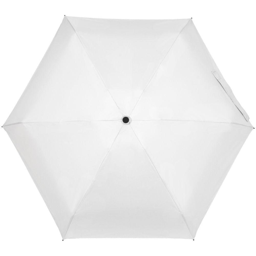 Складной зонт Cameo, механический, белый с белой ручкой - 5