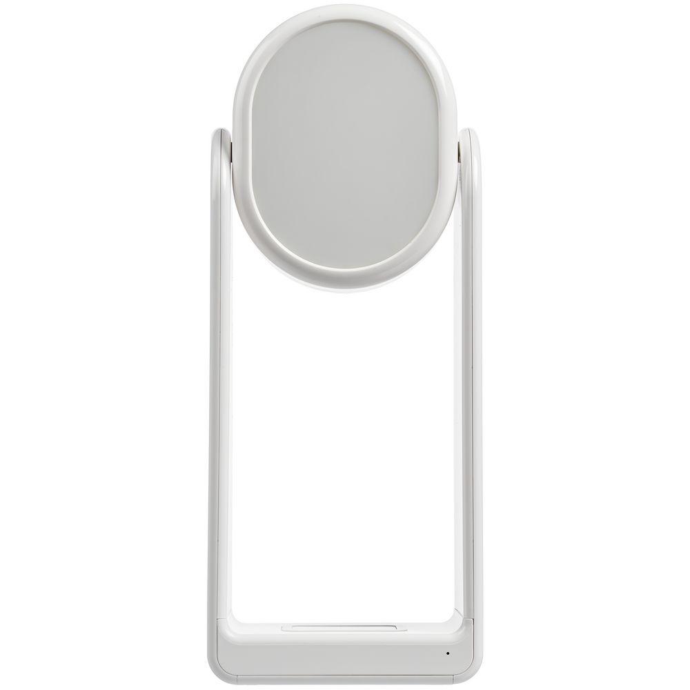 Настольная лампа с зеркалом и беспроводной зарядкой Tyro, белая - 3