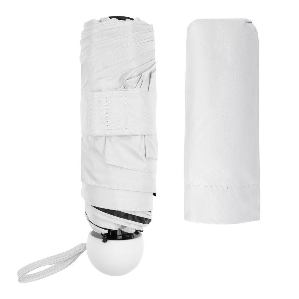 Складной зонт Cameo, механический, белый с белой ручкой - 9