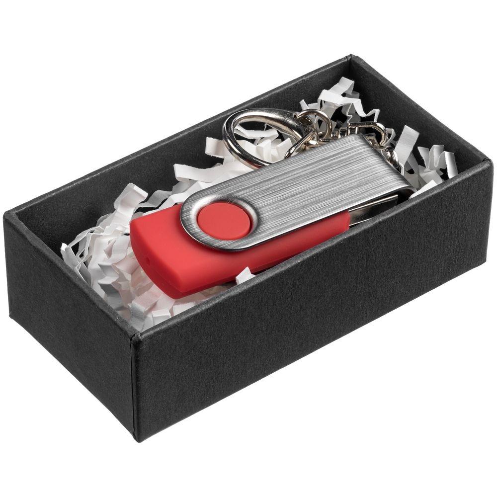 Коробка для флешки Minne, черная, 8x4x2 см, переплетный картон - 3