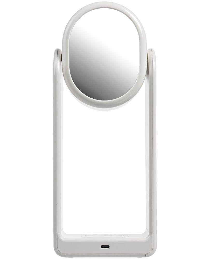 Настольная лампа с зеркалом и беспроводной зарядкой Tyro, белая - 4