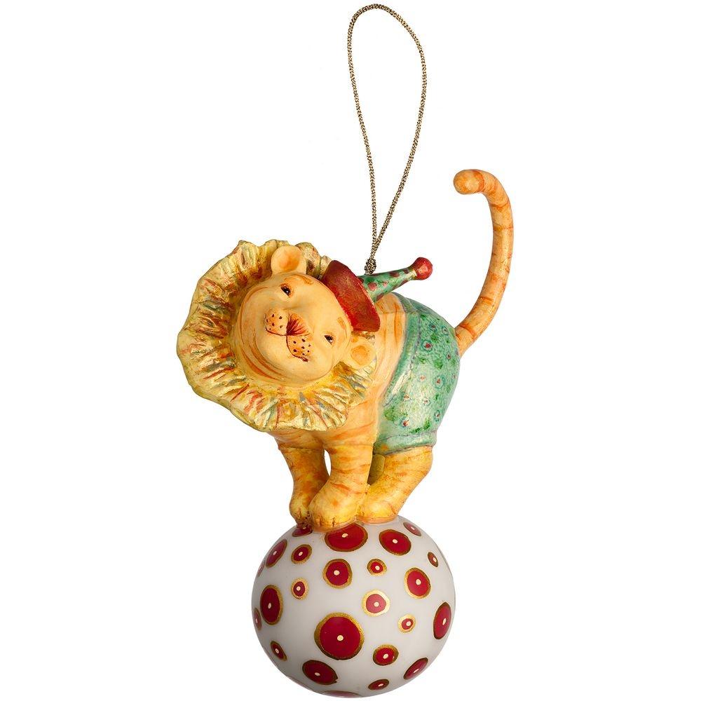 Набор из 3 елочных игрушек Circus Collection: фокусник, силач и лев - 7