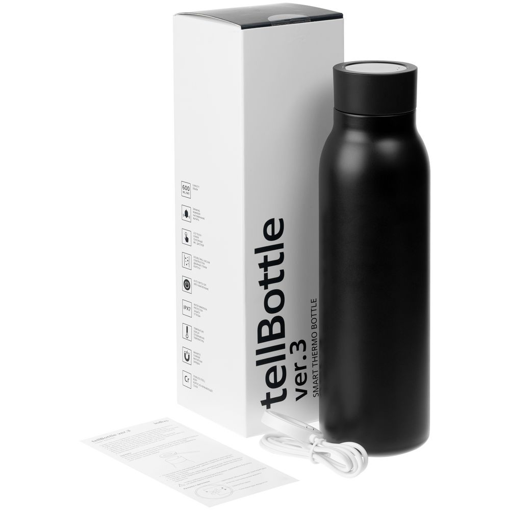 Умная термобутылка tellBottle ver. 3, черная - 15