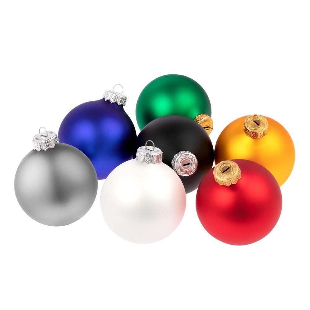 Елочный шар Gala Night Matt в коробке, серебристый, 8 см - 8