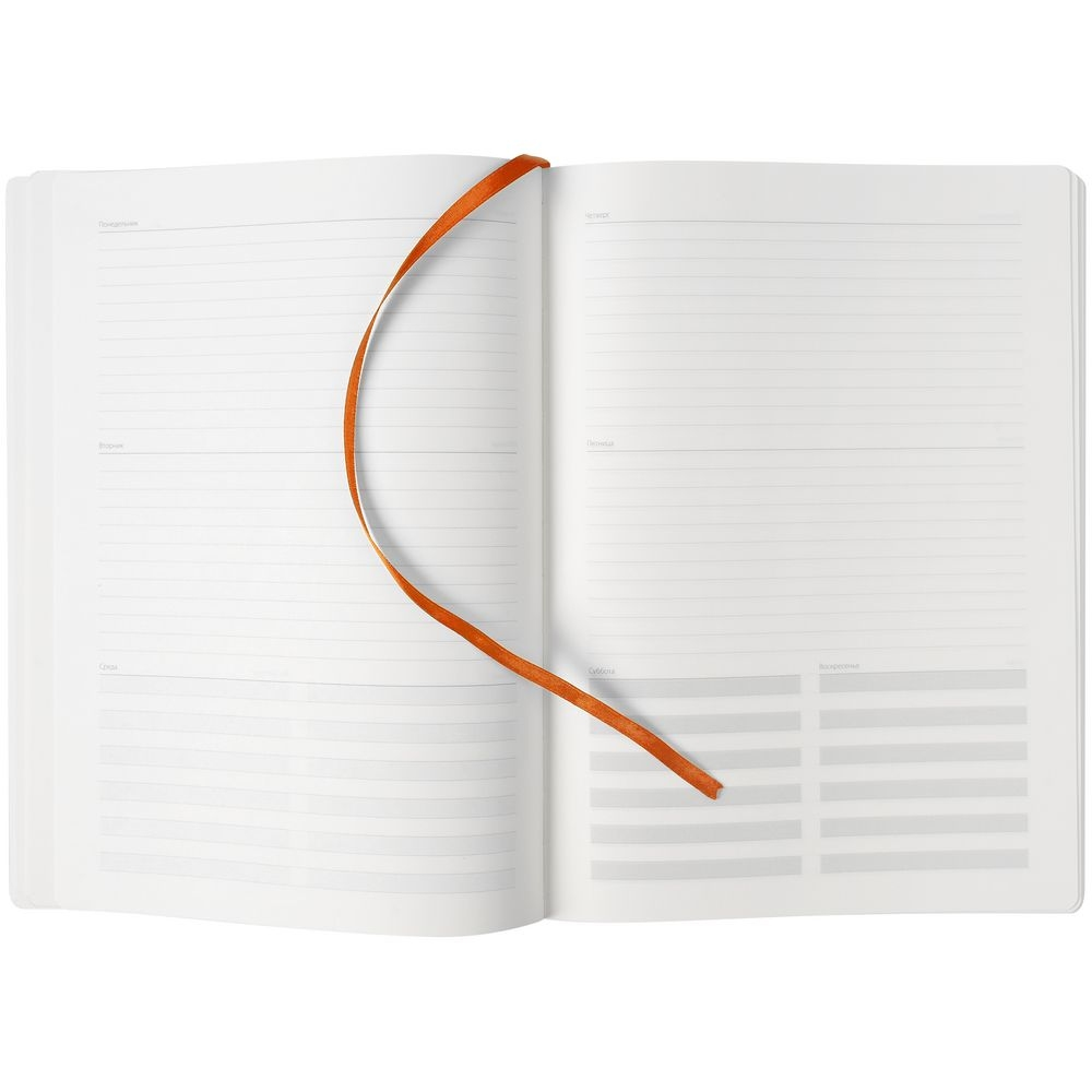 Еженедельник Shall, недатированный, оранжевый - 8