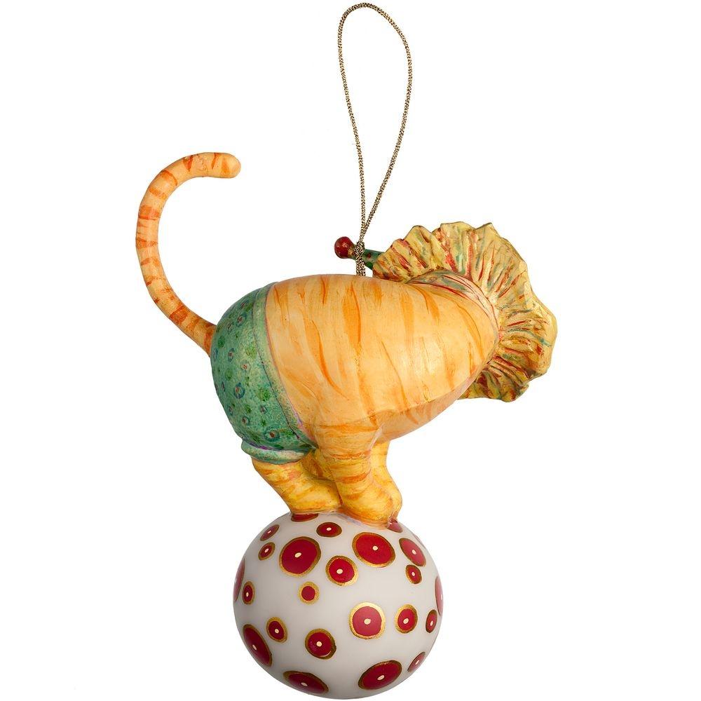 Набор из 3 елочных игрушек Circus Collection: фокусник, силач и лев - 8