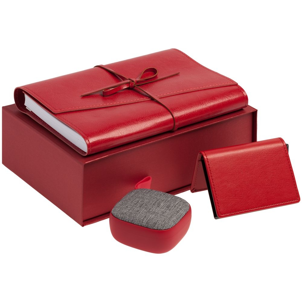 Коробка ClapTone, красная, 23х15,4х7,2 см, переплетный картон - 3