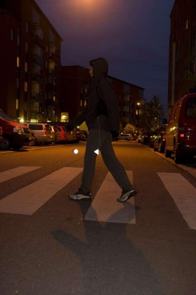 Пешеходный светоотражатель «Снежинка», синий - 5
