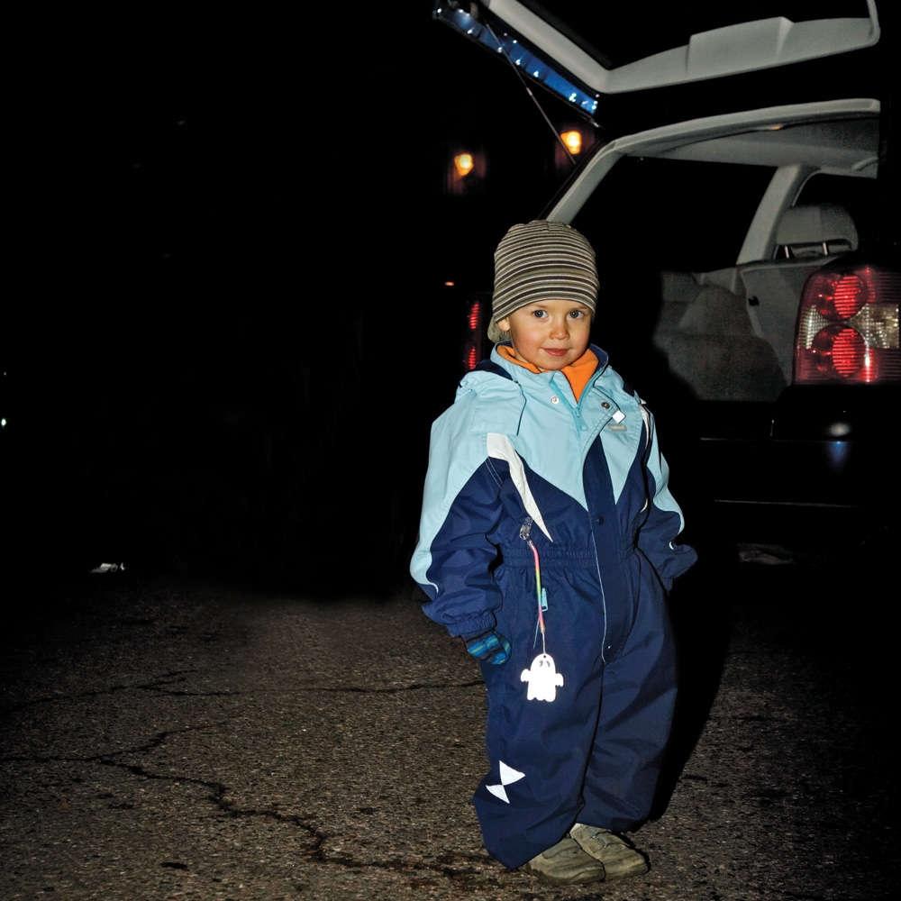 Пешеходный светоотражатель «Снежинка», синий - 6
