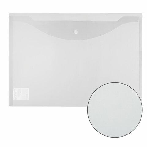 Папка-конверт с кнопкой БОЛЬШОГО ФОРМАТА (300х430 мм), А3, прозрачная, 0,15 мм, STAFF, 228667 - 6