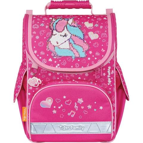 """Ранец TIGER FAMILY для начальной школы, Nature Quest, """"Musical Pony"""" (Pink), 35х31х19 см, 270208 - 1"""
