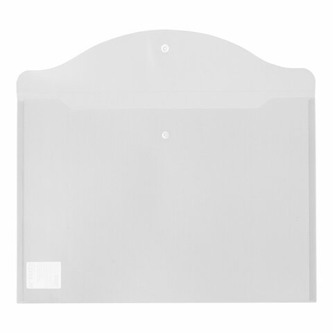 Папка-конверт с кнопкой БОЛЬШОГО ФОРМАТА (300х430 мм), А3, прозрачная, 0,15 мм, STAFF, 228667 - 3