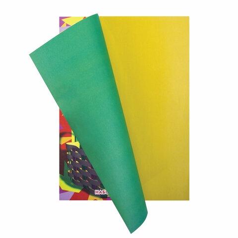 """Цветная бумага А4 газетная, 16 листов 8 цветов, на скобе, ПИФАГОР, 200х283 мм, """"Гномик-грибник"""", 121006 - 2"""