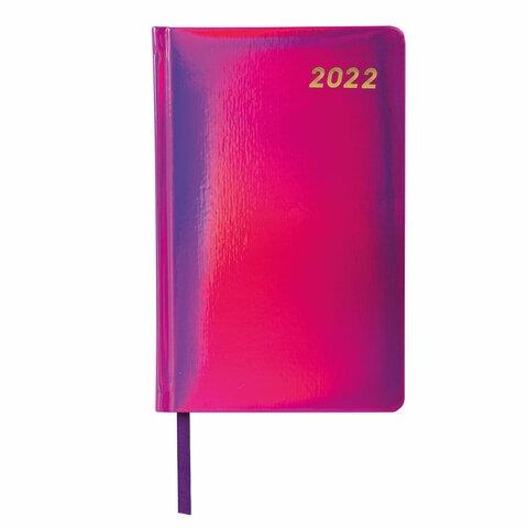 """Ежедневник датированный 2022 А5 138x213 мм BRAUBERG """"Holiday"""", """"зеркальный кожзам"""", фиолетовый, 112749 - 2"""