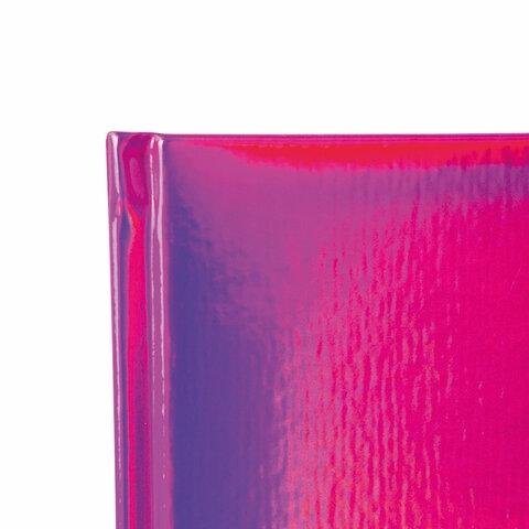 """Ежедневник датированный 2022 А5 138x213 мм BRAUBERG """"Holiday"""", """"зеркальный кожзам"""", фиолетовый, 112749 - 3"""