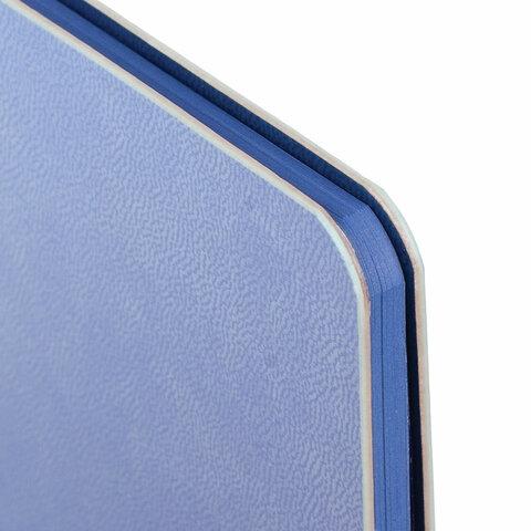 """Дневник 1-11 класс 48 л., обложка кожзам (гибкая), термотиснение, BRAUBERG """"ORIGINAL"""", голубой, 105965 - 3"""