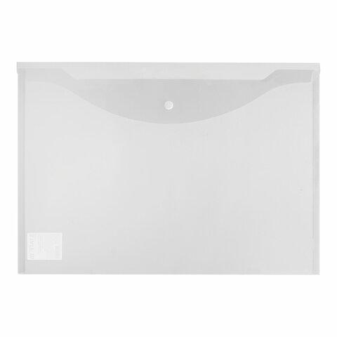 Папка-конверт с кнопкой БОЛЬШОГО ФОРМАТА (300х430 мм), А3, прозрачная, 0,15 мм, STAFF, 228667 - 2