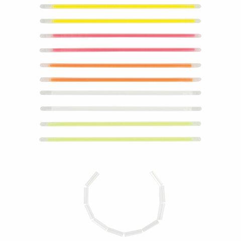 Светящиеся (неоновые) палочки-браслеты ЮНЛАНДИЯ, набор 10 штук в тубе, ассорти, 662595 - 5