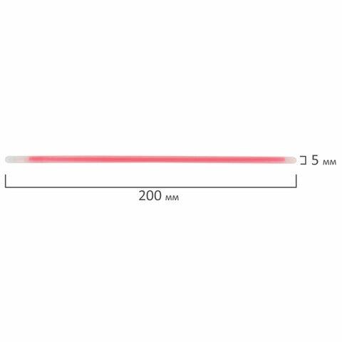 Светящиеся (неоновые) палочки-браслеты ЮНЛАНДИЯ, набор 10 штук в тубе, ассорти, 662595 - 6