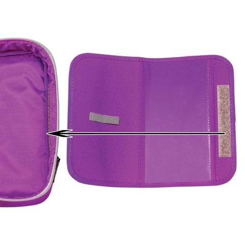 Пенал TIGER FAMILY (ТАЙГЕР) фиолетовый, 1 отделение, откидная планка, 23х7х11 см, 1744D - 5
