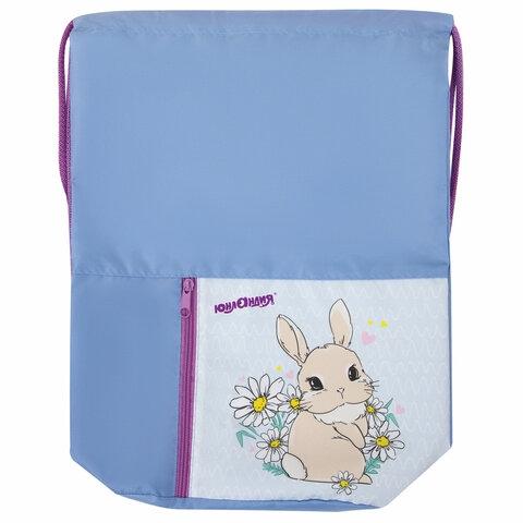 "Сумка для обуви ЮНЛАНДИЯ, на шнурке, карман на молнии, 33х42 см, ""Cute Rabbit"", 270406 - 1"