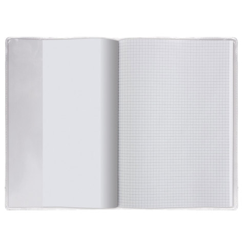 Обложки ПВХ для учебников и тетрадей А4, контурных карт, атласов, ПИФАГОР, комплект 5 шт., прозрачные, 120 мкм, 302х440 мм, 224845 - 4