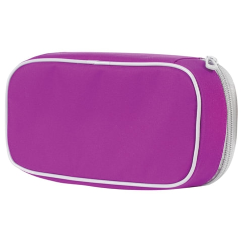 Пенал TIGER FAMILY (ТАЙГЕР) фиолетовый, 1 отделение, откидная планка, 23х7х11 см, 1744D - 2