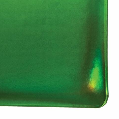 """Ежедневник датированный 2022 А5 138x213 мм BRAUBERG """"Holiday"""", """"зеркальный кожзам"""", зеленый, 112750 - 3"""