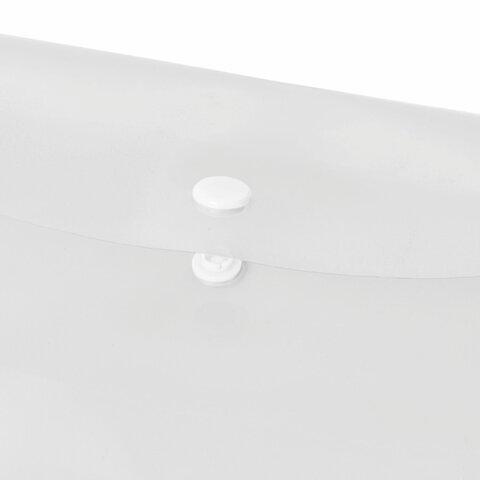 Папка-конверт с кнопкой БОЛЬШОГО ФОРМАТА (300х430 мм), А3, прозрачная, 0,15 мм, STAFF, 228667 - 4