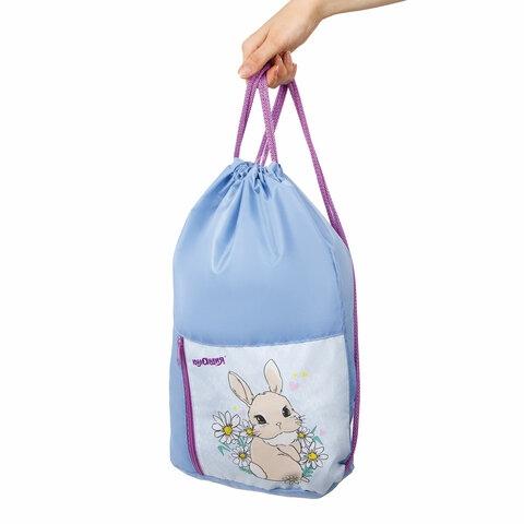 "Сумка для обуви ЮНЛАНДИЯ, на шнурке, карман на молнии, 33х42 см, ""Cute Rabbit"", 270406 - 4"