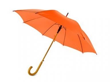 Oasis Зонт-трость Helen style полуавтоматический с деревянной ручкой оранжевый Зонт-трость Helen styleполуавтоматический с деревянной ручкой оранжевый