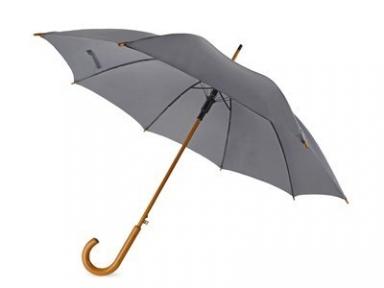Oasis Зонт-трость Helen style полуавтоматический с деревянной ручкой серый